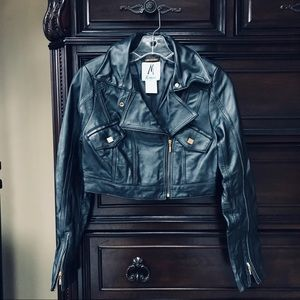 Marciano Leather Cropped Jacket   XS